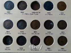 1857-1909 INDIAN HEAD CENT COLLECTION NEARLY Complete 56 Coins includes1908 S