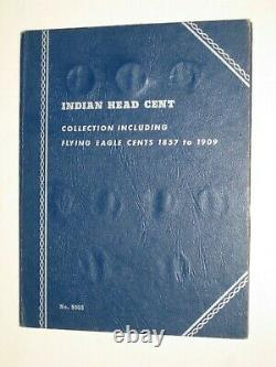 1857-1909 Indian Penny Collection in Whitman Folder Near Complete 56 Coin Set
