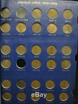 1909-1940 Lincoln Wheat Penny 1c Cent Collection Book Set Album Nearly Complete