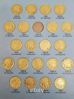 1913 1938 Buffalo Nickel Set Nearly Complete (62) Coin Collection in Album
