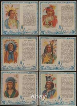 1954 Red Man American Indian Chiefs G avg near complete set 33/40 cards 53402