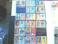 1957 57 Topps FOOTBALL NICE Near COMPLETE CARD SET COLLECTION lot 113/154 set #2