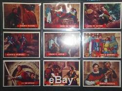 1957 Robin Hood Complete (60) Card Set Topps High Grade Near Mint Condition