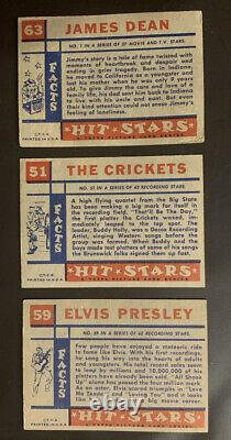 1957 Topps Hit Stars Near Complete Card Set 66 of 88