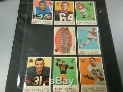 1959 59 Topps FOOTBALL Near COMPLETE CARD SET COLLECTION 175/176 set #1