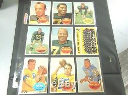 1960 60 Topps FOOTBALL Near COMPLETE CARD SET COLLECTION 129/132 set #2