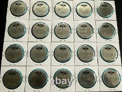 1966 BATMAN'Space Magic' COMPLETE Metal 20-COIN Set! Near MINT Beautiful! Rare
