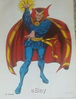 1966 MARVEL SUPERHEROES posters MARVELMANIA Near-Mint Complete SET of 8 UNUSED
