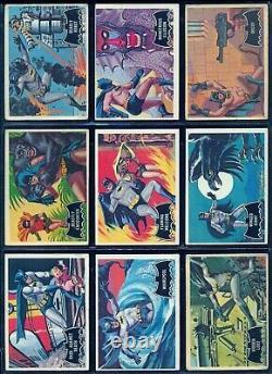 1966 TOPPS O PEE CHEE BATMAN BLACK BAT Near COMPLETE FULL 53 CARD SET 2 Missing