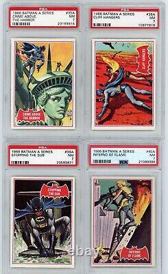 1966 Topps Batman A Series Red Bat Complete Set 1-44 PSA 7 Near Mint
