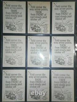 1970 Odder Odd Rods Complete(66) Sticker Set & Wrapper Donruss Near Mint