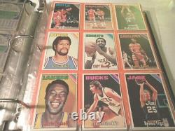 1975-76 TOPPS Basketball Near Complete Set 317/330 cards E+Mt Collection set#3