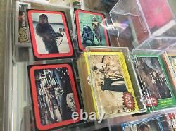 1977 Topps Star Wars Near Complete Trading Card Set Series 1-5 With Some Stickers