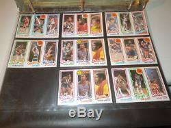 1980-81 TOPPS Basketball Near Complete card Set 89/176 cards Near Mint Lot #3