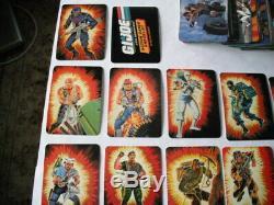 1986 Hasbro/Milton Bradley GIJOE ACTION CARDS NEAR COMPLETE SET WITH STICKER SET
