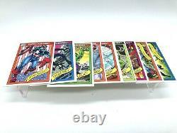 1990 Impel Marvel Universe Series 1 NM 144/162 Near Complete Set + Bonus MCU PSA