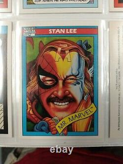 1990 MARVEL UNIVERSE SERIES 1 COMPLETE 162 CARD SET NEAR MINT IMPEL binder sheet