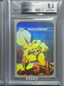 1990 Marvel Universe Hologram BGS 8.5 Near Complete Set! (4 of 5) PSA Low POP