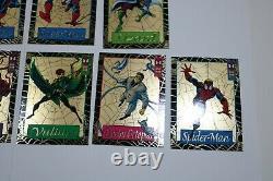 1994 Fleer Spider-Man Wal-Mart Jumbo Gold Web Chase Insert Near Complete set