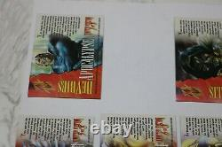 1995 Fleer Marvel Masterpieces Holoflash Insert Chase Card Near Complete Set 7/8