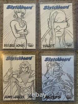 1998 Marvel Creators Collection SKETCHBOARD NEAR COMPLETE CARD SET (23 OF 24)