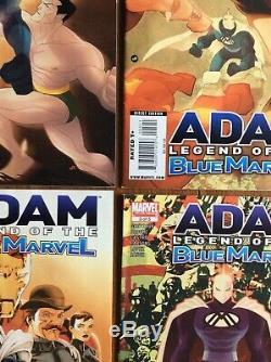 ADAM LEGEND OF THE BLUE MARVEL (2008) Near Complete Set 2 3 4 5 Avengers No 1