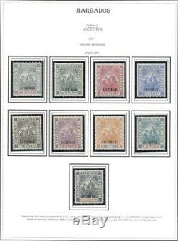 BARBADOS COLLECTION 1852-1999, nearly complete, Mint or unused, Scott $29,992.00