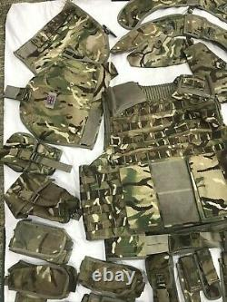 British Army Osprey MK4 Body Armour Cover & Nearly Complete Pouch Set MTP #3550A