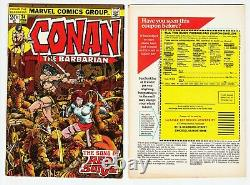 CONAN THE BARBARIAN #1-275 NEAR COMPLETE RUN Marvel 1970 EX-DEALER STOCK 23 24