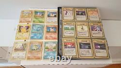 Complete Base Set Pokemon Cards 102/102 Charizard + Near Complete Fossil Set