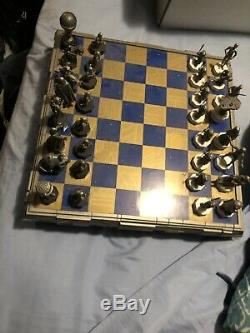 Danbury Mint STAR WARS Pewter CHESS SET (1993) NEVER USED COMPLETE & NEAR MINT