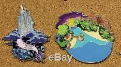 Disney Fantasy Pin Lot Kingdom Hearts Worlds NEAR COMPLETE KH2 KH3 Gummi Ship