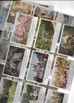 Disneyland 1965 Trading Card Set Complete 1-65 cards are near mint or better