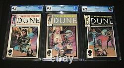 Dune Movie 1985 Marvel Comic Adaptation (Complete #1-3) All 3 Near Mint CGC
