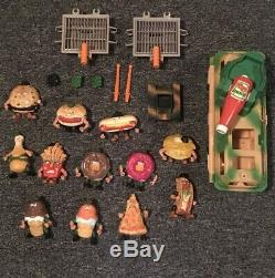 Food Fighters Mattel Toy Action Figure Collection Set Near Complete