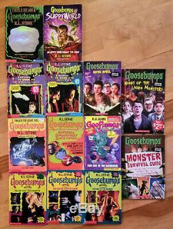 Huge RL Stine Goosebumps Collection, Near Complete Orig Set 104 Books +Bookmarks
