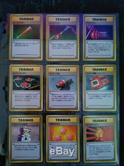 Japanese Base Set 1996 Pokemon Cards COMPLETE 102/102 Near Mint+ Charizard etc
