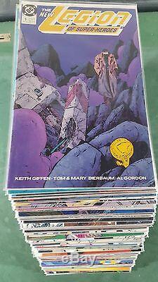 Legion of Superheroes 1989 #1-98 near Complete Run HUGE Lot Annual #1-3 bag boar