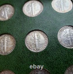 Mercury Dimes Collection 76 Coins Nearly Complete Set No 1916 D NICE