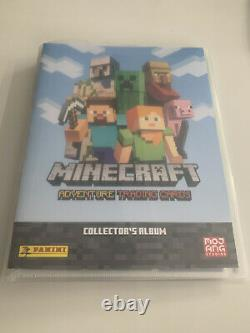 Minecraft TradingCards Series 1 Very Near Complete Base Set + 1 Limited & Album