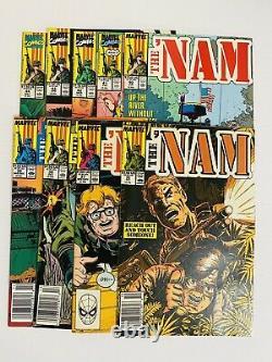 Nam #1-84 near complete lot run + Savage Tales #1 + Nam Magazine 1 all VFNM 1985