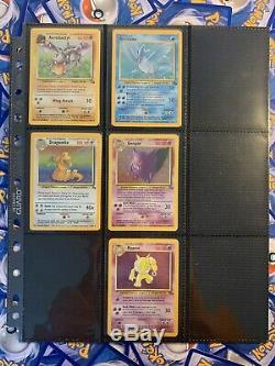Near Complete Fossil Set Missing 5 Excellent To Great Condition Pokemon Cards