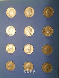 Near Complete Set Washington 90% Silver Quarters 1932-1964 1965-1979 Collection