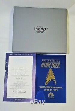 Near Mint 1994 Franklin Mint Star Trek Tridimensional Chess Set Complete