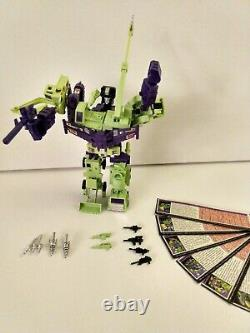 Near mint Vintage Original Transformers G1 DEVASTATOR 100% Complete collection