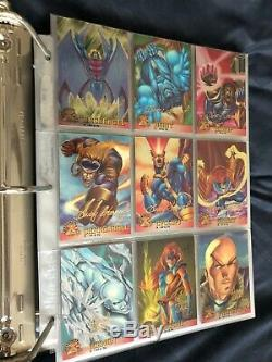 Near mint nm 1600+ X-Men trading comic cards complete set chase promo autograph