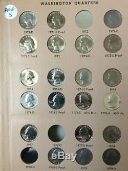 Nearly Complete Washington Quarter set/album collection 1932 1998 with Proofs