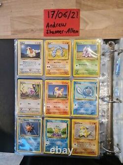 Part Complete Base Set! Near Mint to Played Holo Pokemon Card Bundle 1999