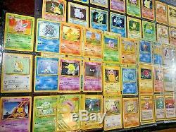 Pokemon BaseSet CHARIZARD Holo 4/102 HIGH GRADE Near Complete Set 99 Card Lot! 1