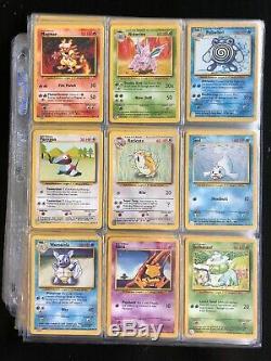 Pokemon Card Base Set Collection Complete 102/102 Near Mint Charizard WOTC 1999
